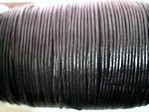 stringing - leather - 100 metre roll of 2mm leather - matt black