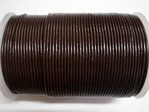 stringing - leather - 100 metre roll of 1.5mm leather - dark brown