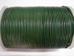 stringing - leather - 100 metre roll of 1mm leather - dark green