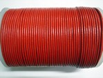 stringing - leather - 100 metre roll of 2mm leather - red