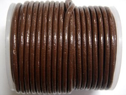 stringing - leather - 100 metre roll of 2mm leather - brown