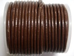 stringing - leather - 100 metre roll of 1mm leather - brown