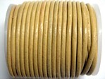 stringing - leather - 100 metre roll of 2mm leather - cream