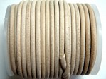 stringing - leather - 100 metre roll of 1.5mm leather - natural