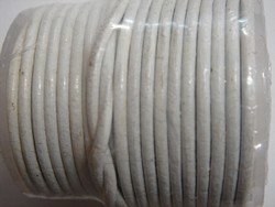 stringing - leather - 100 metre roll of 2mm leather - white