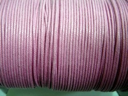 stringing - waxed cotton - 1.0mm x 500m - pink