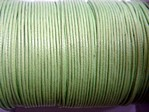 stringing - waxed cotton - 1.0mm x 500m - green
