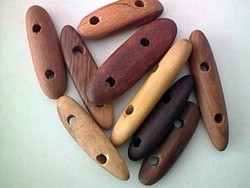 wood - Australian outback wood beads - 2 hole longs x 1kg