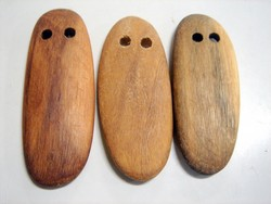 wood - Australian outback wood beads - 2 hole ghost pendants x 1kg