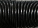 stringing - leather - 100 metre roll of 1.5mm leather - black